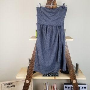 Volcom | Gray Strapless Short Summer Dress